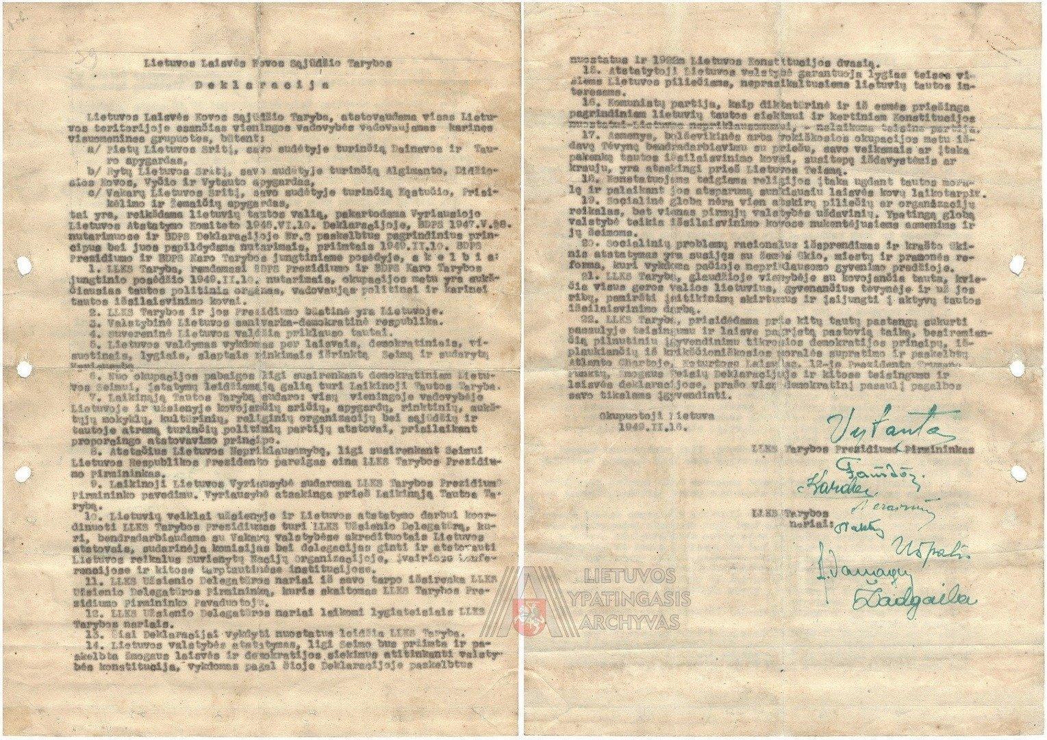 Nepriklausomybės deklaracija