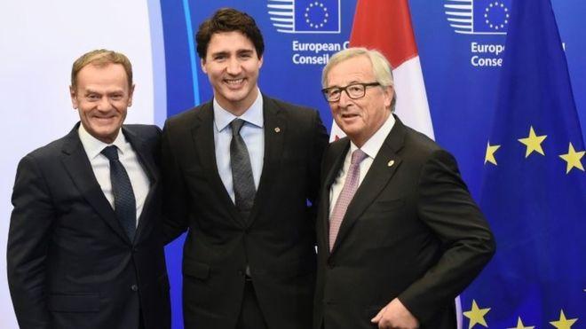 Donaldas Tuskas, Džastinas Triudo ir Žanas-Klodas Junkeris