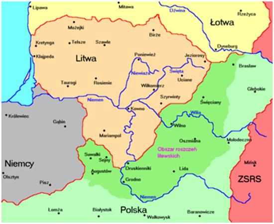 Lietuvai turinti priklausyti teritorija