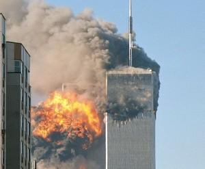 9/11 Bokštai dvyniai įsirėžus lėktuvui