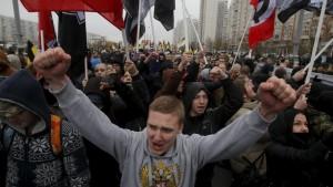 nacionalistau rusų marše