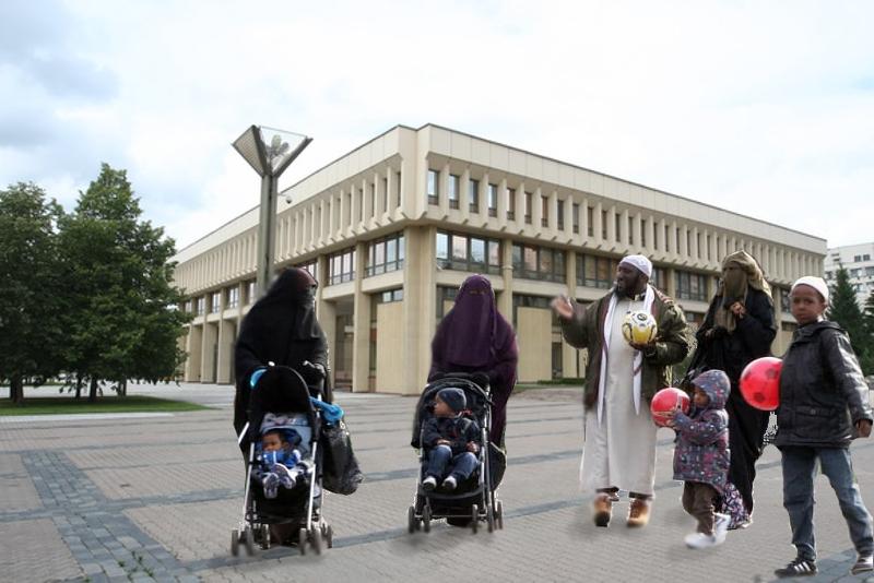 2050-ieji. Lietuvos Seimas - Nepriklausomybės aikštė
