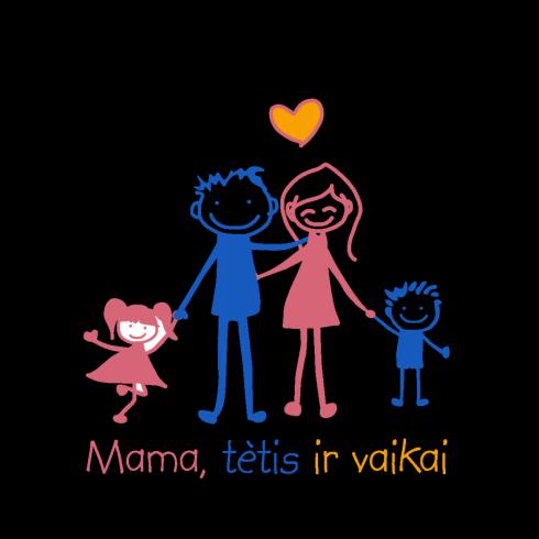 mama, tėtis ir vaikai