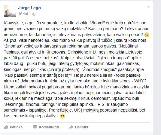 Jurgos Largo tekstas