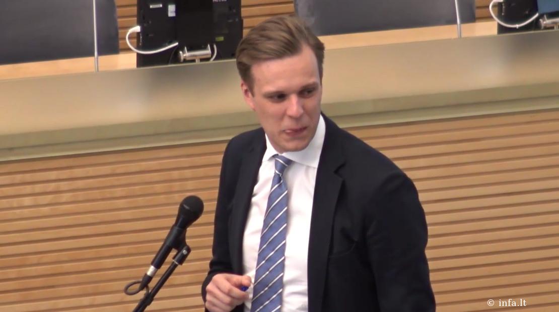 Gabrielius Landsbergis pasisakymo Seime metu