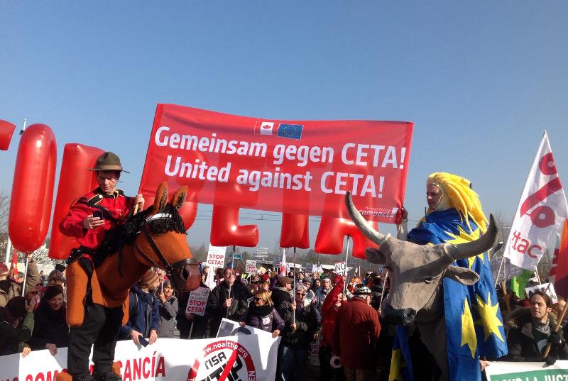 Protestas prieš CETA Strasbūre