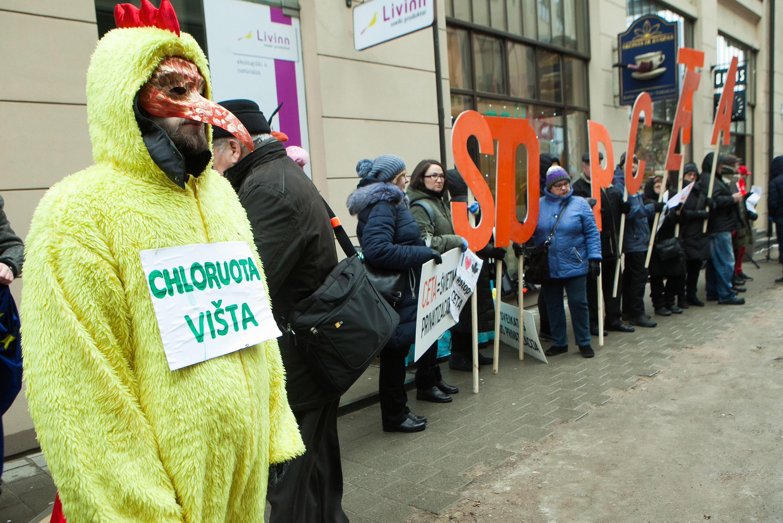 Protestas Vilniuje prieš CETA