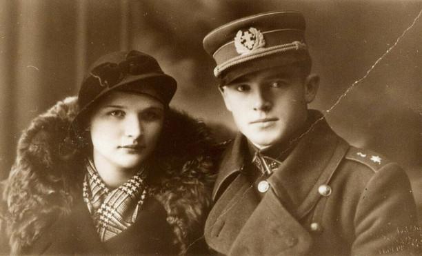 Jonas Noreika su būsima žmona