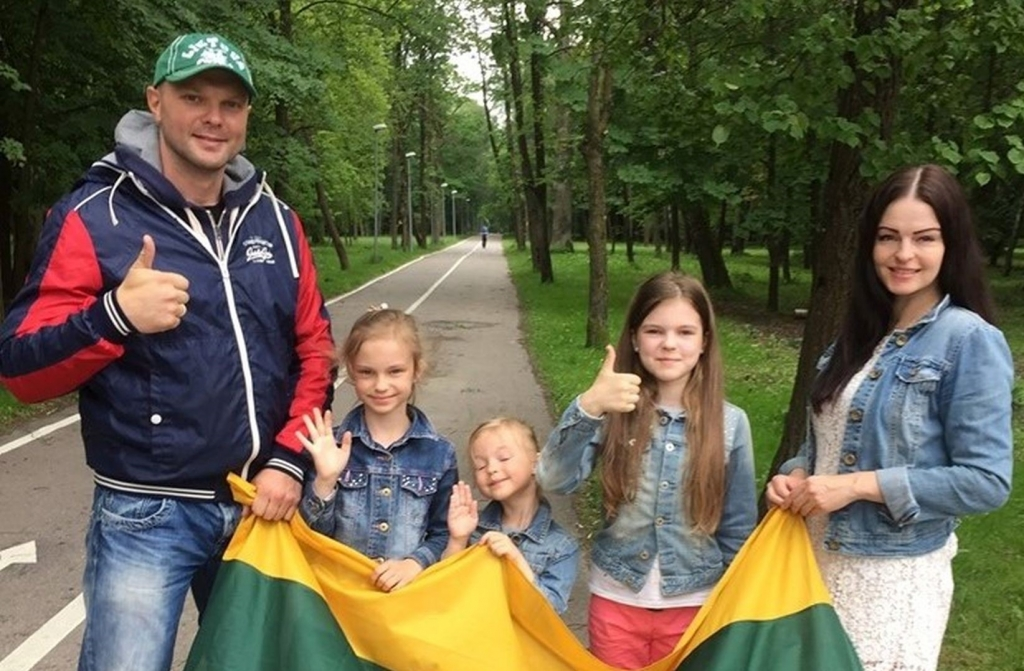 Kristupas Krivickas su šeima