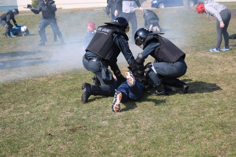 policijos kursantų mokymai