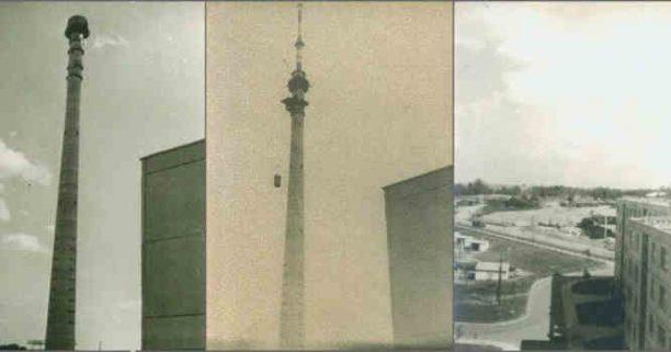 Lazdynų TV bokšto statyba