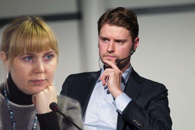 Mykolas Majauskas ir Dovilė Šakalienė (kairėje)