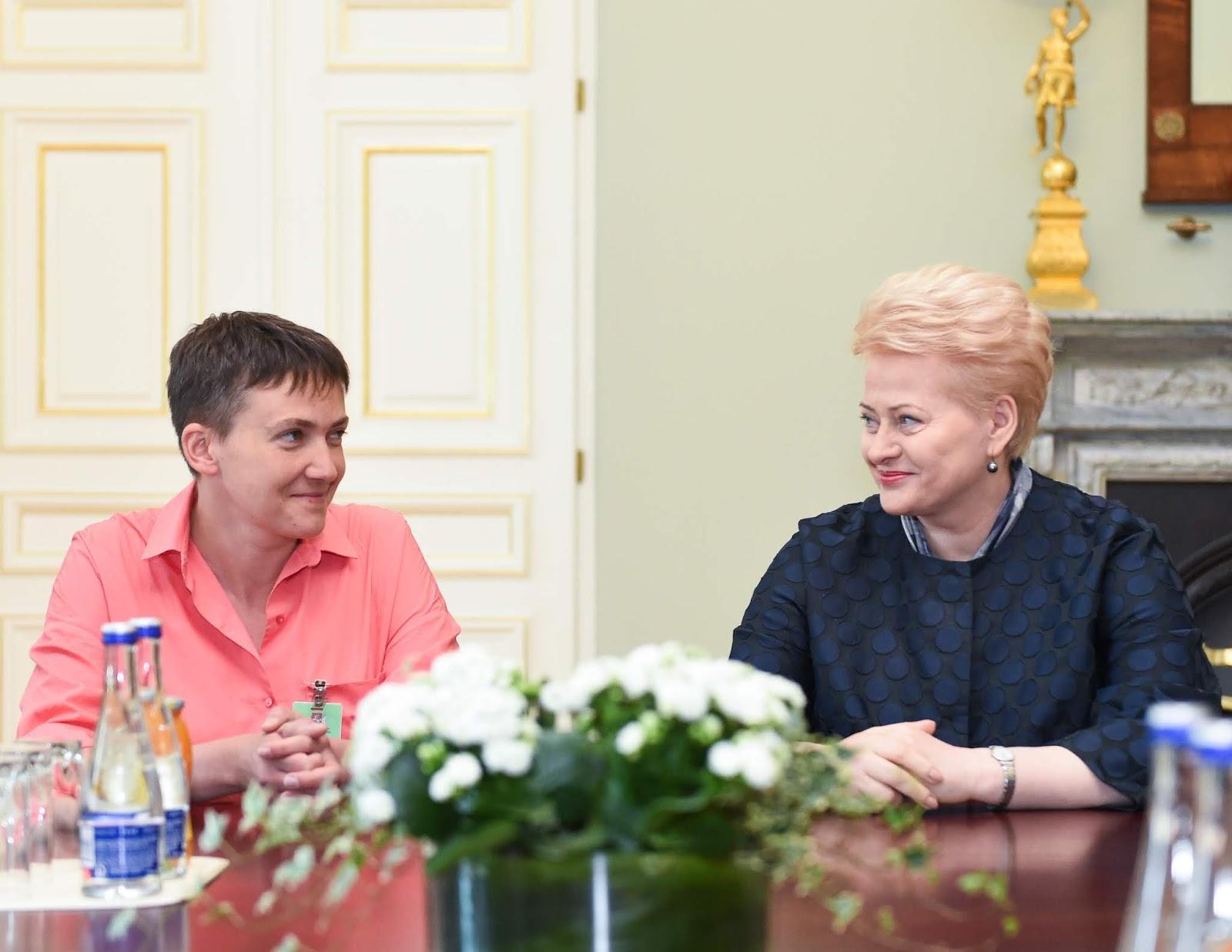 Nadedežda Savčenko ir Dalia Grybauskaitė