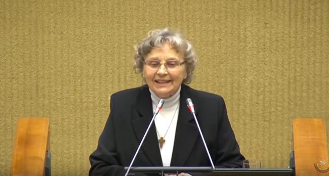 Nijolė Sadūnaitė, Laisvės premijos įteikimo ceremonijos metu