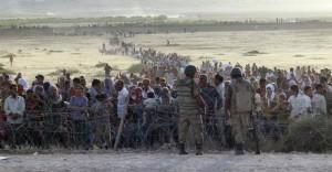pabėgėliai laukia