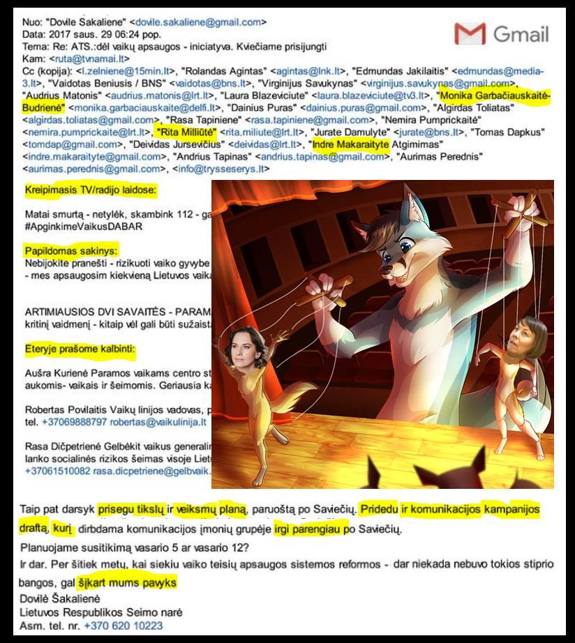 Dovilės Šakalienės nurodymai žiniasklaidai