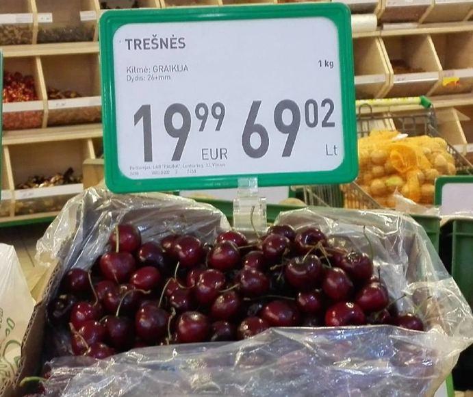 Trešnės už 19.99 €u
