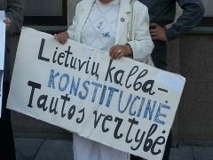 už lietuvių kalbą